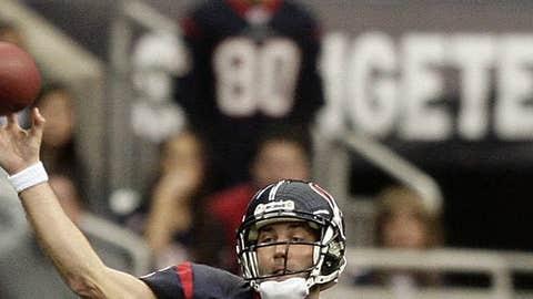 49. Matt Schaub, QB, Texans (2009 Rank: Unranked)