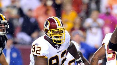 56. Albert Haynesworth, DT, Redskins (2009 Rank: 14)