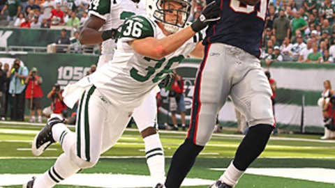Randy Moss: One-handed touchdown grab vs. Jets