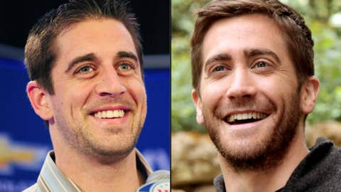 Packers QB Aaron Rodgers and actor Jake Gyllenhall
