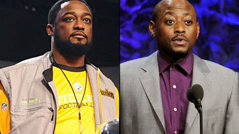 Steelers coach Mike Tomlin and actor Omar Epps