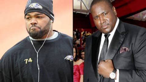 Ravens T Michael Oher and actor Quinton Aaron