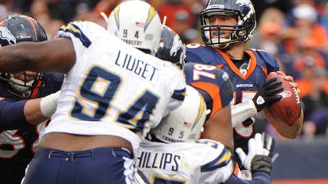 Broncos 24, Chargers 29