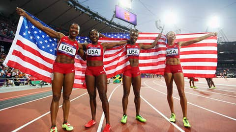 US women's 4x100 relay team