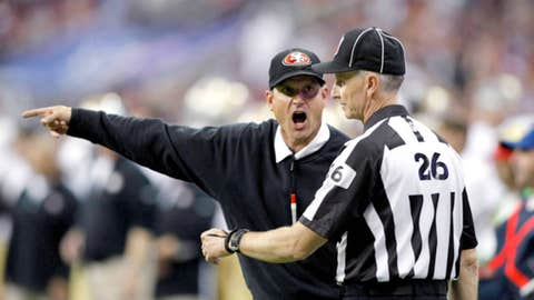 4. Jim Harbaugh's (shockingly) not overwhelmed with replacement refs