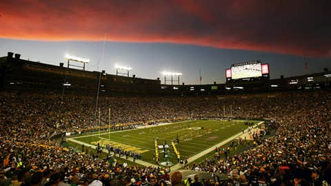 Sunset over Lambeau