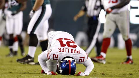 The health of the Giants' defensive backfield