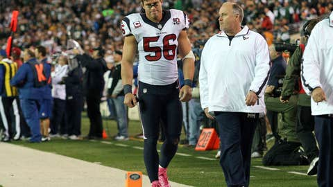 How will the Texans defense perform without Brian Cushing? Tim Dobbins is the next man up.
