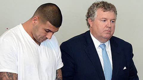 Former New England Patriots tight end Aaron Hernandez
