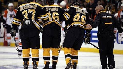 Injury bug bites Bruins