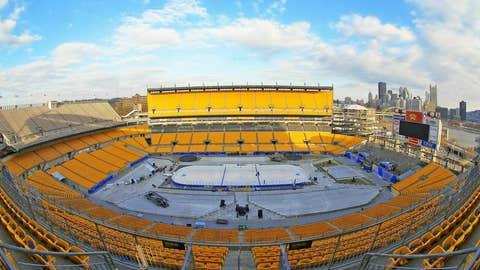 2011 Bridgestone NHL Winter Classic Build Out
