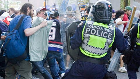Police clash with fans
