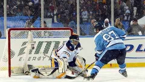 2009: Penguins 2, Sabres 1, SO (at Ralph Wilson Stadium)