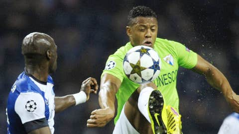 FC Porto & Malaga(Photo credit should read MIGUEL RIOPA/AFP/Getty Images)