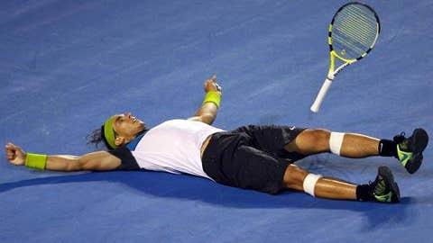 2009: Australian Open final (Nadal wins 7-5, 3-6, 7-6 (3), 3-6, 6-2)