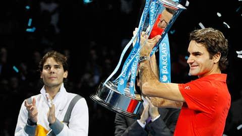 2010: ATP finals title match (Federer wins 6-3, 3-6, 6-1)