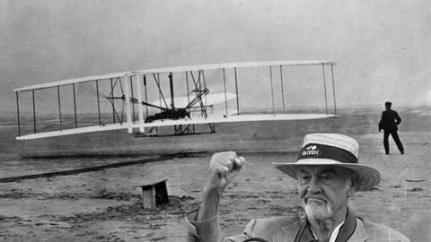 Wright brothers first to fly