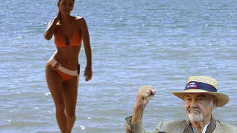 Halle steps out of the sea in 'Die Another Day'