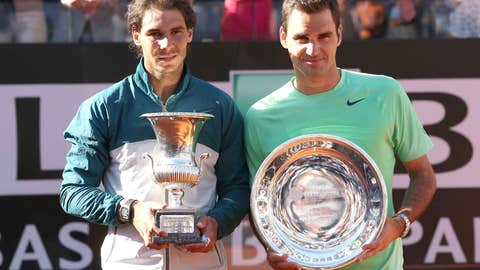 2013: Rome final (Nadal wins 6-1, 6-3)