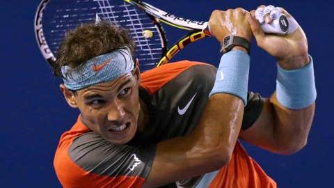 2014: Australian Open semifinals (Nadal wins 7-6 (4), 6-3, 6-3)