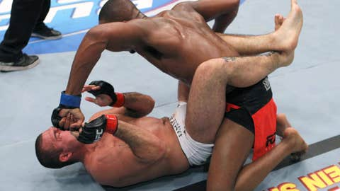 Shogun was on the receiving end of an eventual TKO loss