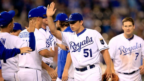 Jason Vargas -- Kansas City Royals: .608 OPS
