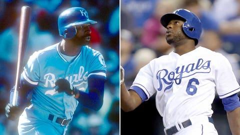 CF: Willie Wilson (1985) & Lorenzo Cain (2014)