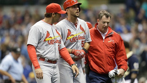 April 27 – Adam Wainwright lost for the season
