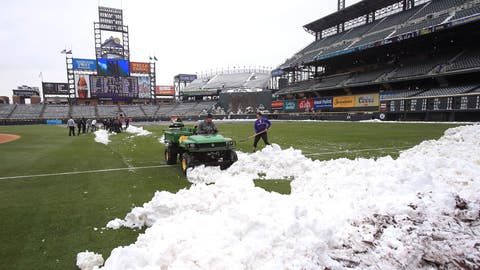May 10 - Rockies play game after Coors Field cleared of snow