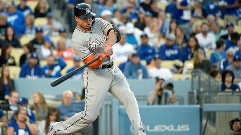 High: Stanton exits Dodger Stadium (5/12)