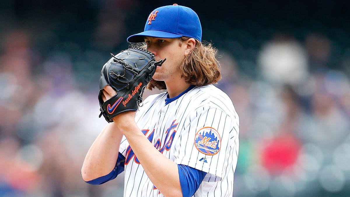 Jacob deGrom leads the way on the mound tonight