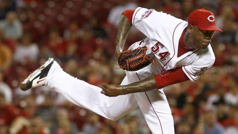 18. Aroldis Chapman, RP, Cincinnati Reds (1.69 ERA, 18 SV, 65 SO, 1.18 WHIP)