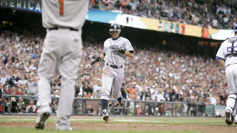 Ichiro's inside-the-park home run: July 10, 2007, at AT&T Park in San Francisco