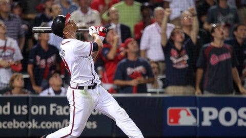 2012 Wild Card Game: Infield fly rule on Andrelton Simmons' flyball