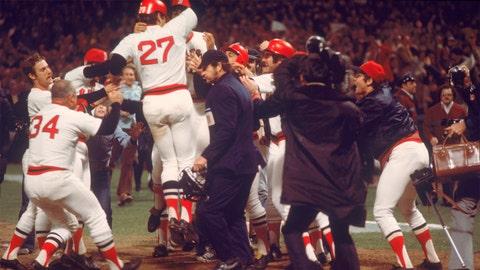 Carlton Fisk. Boston Red Sox vs. Cincinnati Reds, Game 6, 1975: