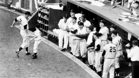 Dusty Rhodes. New York Giants vs. Cleveland Indians, Game 1, 1954: