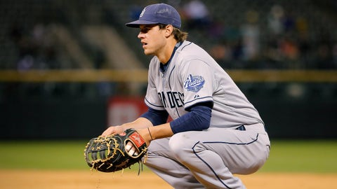 Myers settles in at first