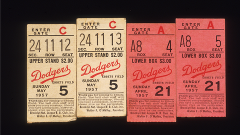 Average price of a baseball ticket in 1950: $1.54