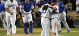 Hill outpitches Arrieta; Dodgers beat Cubs 6-0 for NLCS lead