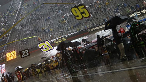 Rainy night at Bristol Motor Speedway
