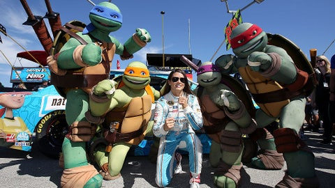 Danica and the Ninja Turtles