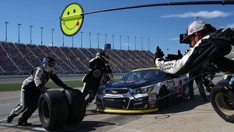 Harvick caught on pit road under caution