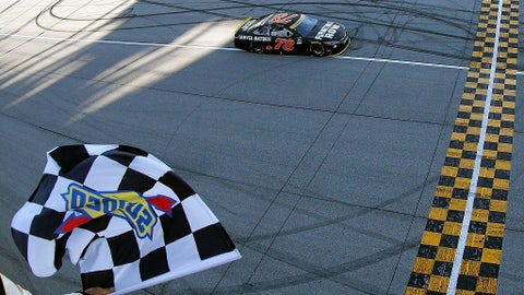 Truex takes the checkered flag