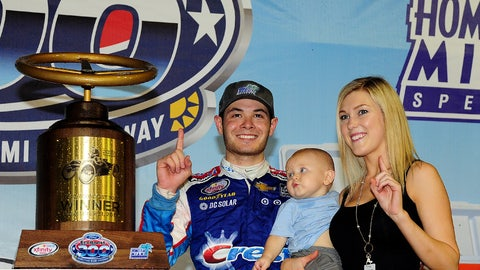 Family time in Victory Lane