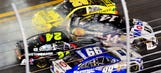 Rough return: Stewart takes hard hit in Sprint Unlimited