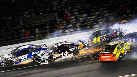 This wreck took out a bunch of strong contenders.