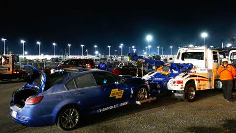 The pace car wrecked?