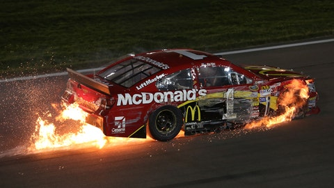 Photos: Wild night for fans and drivers at Kansas Speedway