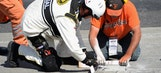 Concrete barrier: Broken chunk of track halts race at Dover
