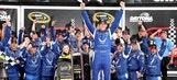 Aric Almirola wins rain-shortened Coke Zero 400 in No. 43 car